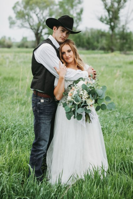 Sitting volleyball player Payden Olsen with her new husband Carson