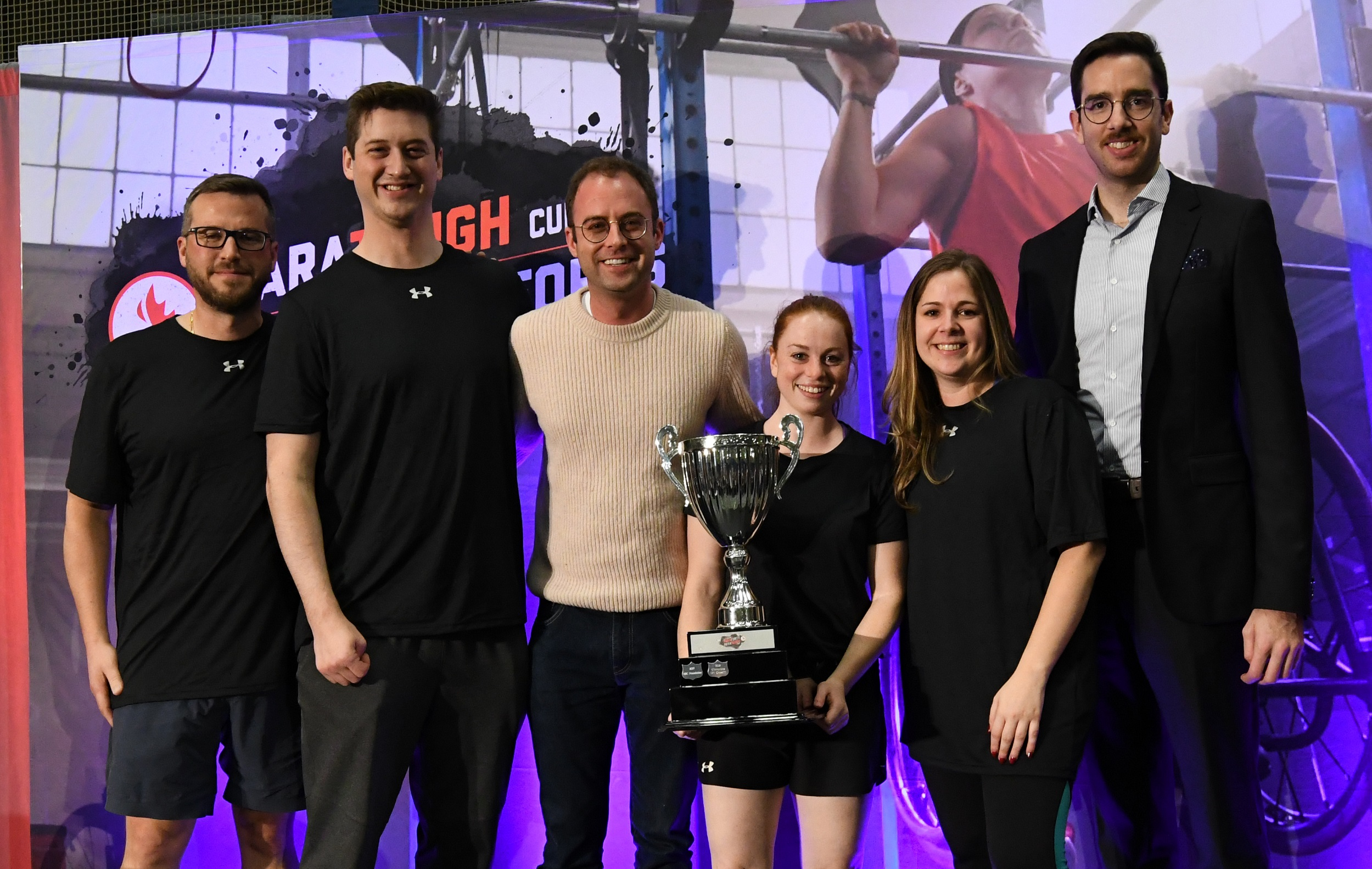 Team Fasken 2 with the ParaTough Cup trophy in Montreal 2019.