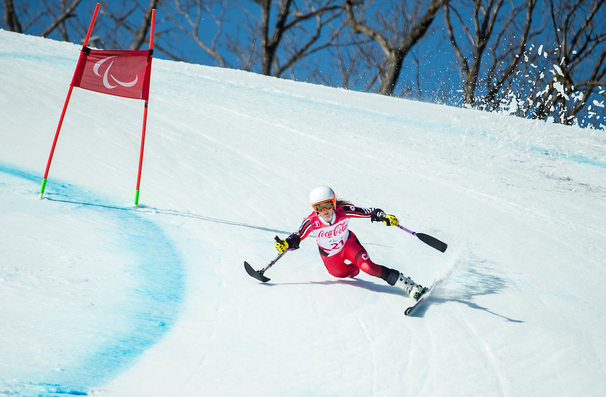 Frederique Turgeon skiing
