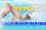 Caleb Arndt  swims at the Parapan Ams in Lima
