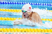 Nicholas Bennett swims at the Parapan Ams in Lima