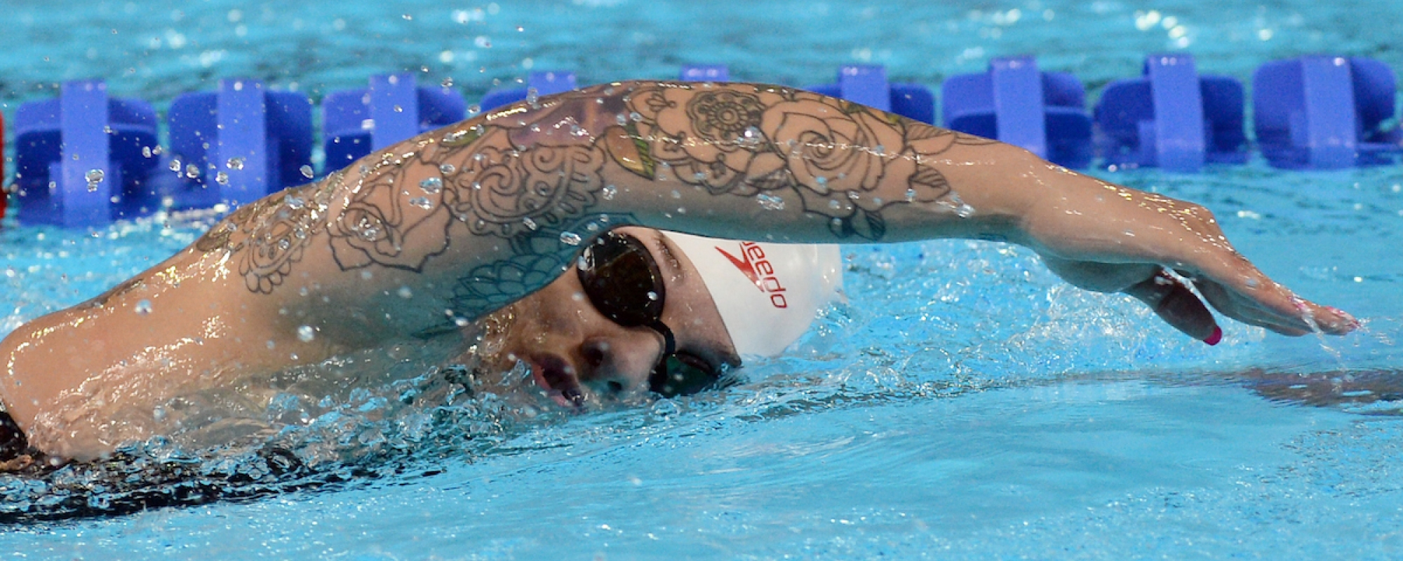 Krystal Shaw swims at the Lima 2019 Parapan American Games