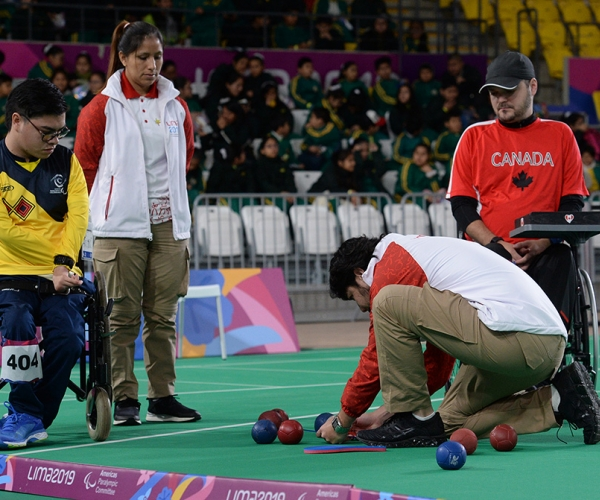 Boccia officials out to measure