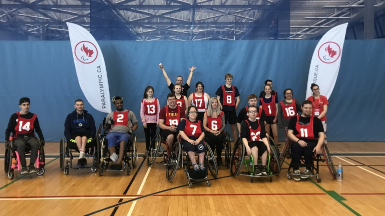 A group photo of the 16 participants at the Paralympian Search event in Halifax on May 25.
