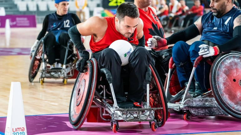 Patrice Dagenais in Canada's first match of the Lima 2019 Parapan Am Games