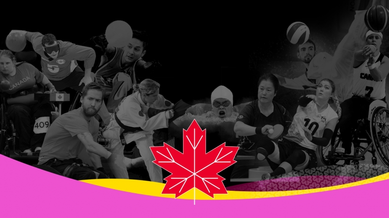 Canadian Parapan Am team maple leaf