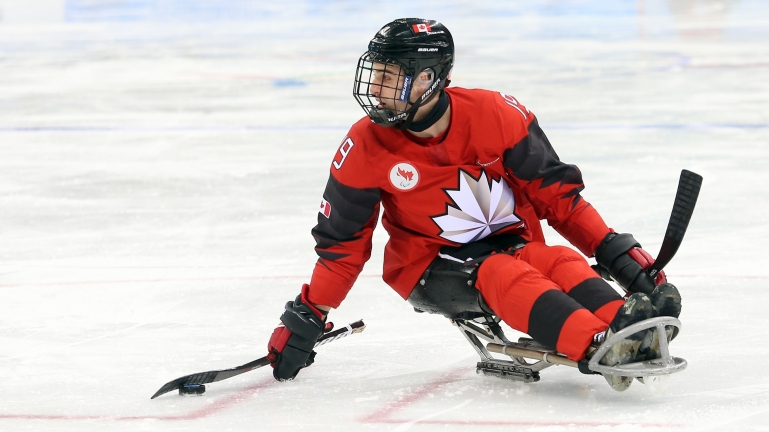 Dominic Cozzolino in action at the PyeongChang 2018 Paralympic Winter Games.