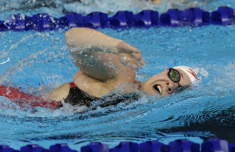 Swimmer Sarah Mailhot in competition at the Toronto 2015 Parapan Am Games