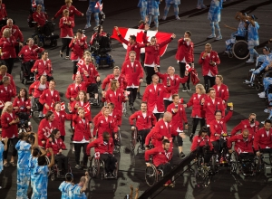 Team Canada enters the Rio 2016 Paralympic Games Opening Ceremony